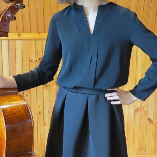 long_sleeve_blouse_tucked_skirt