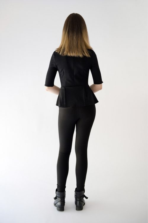 back view of peplum top