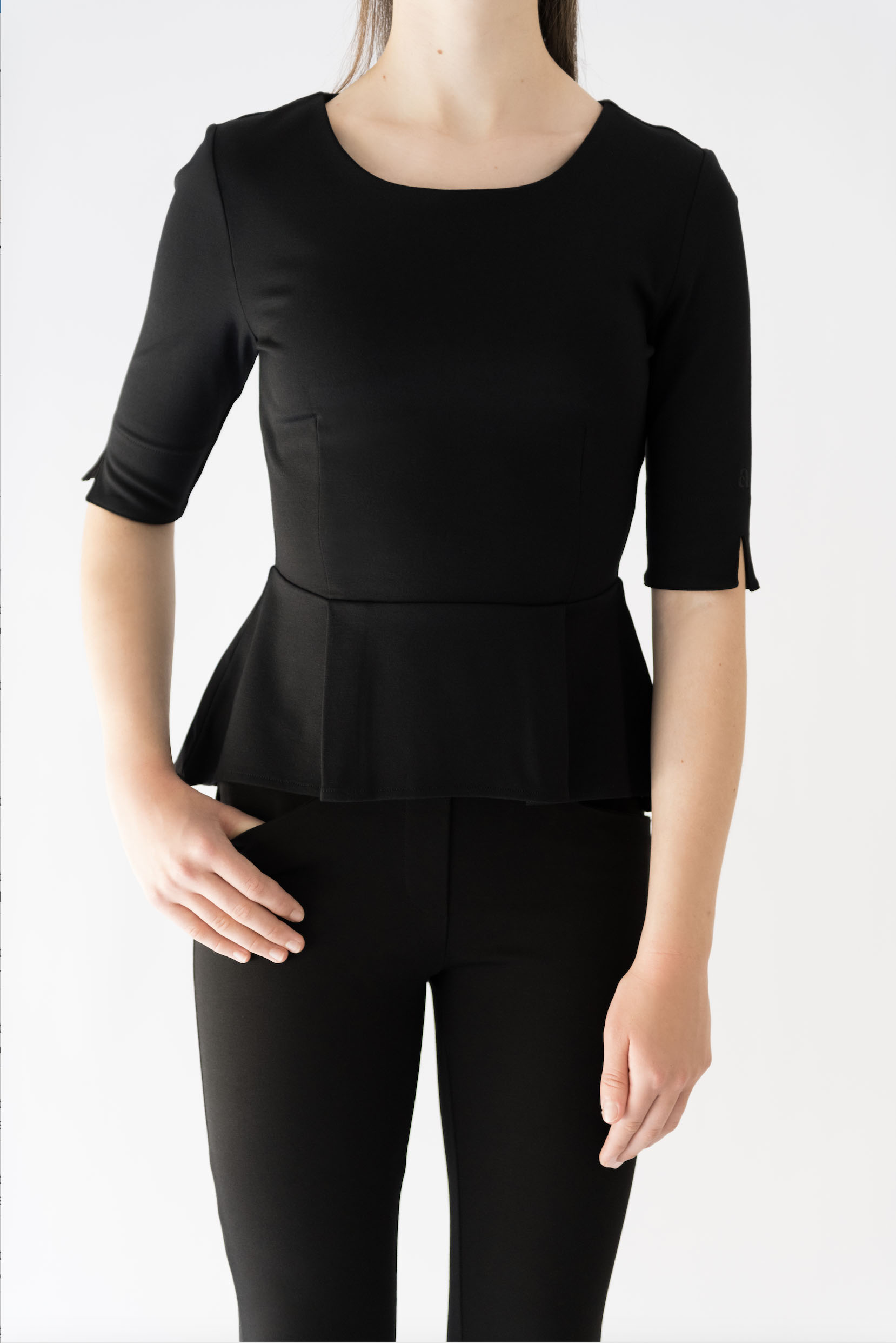 shop for genuine select for latest search for official Black Peplum Top